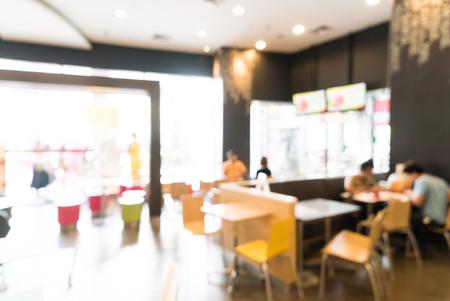 shop window: Abstract blur restaurant interior background