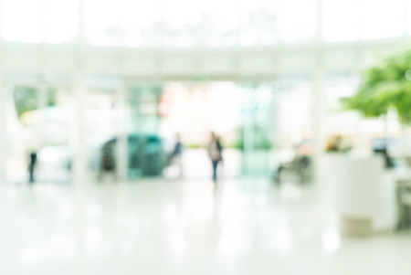 wait: Abstract blur hospital interior background