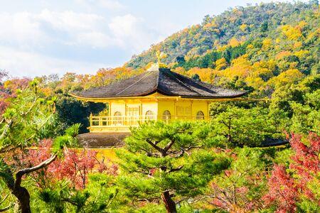 pavillion: Golden pavillion in Kinkakuji Temple at Kyoto Japan