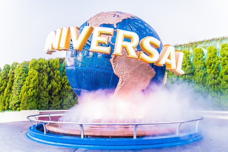 industry park: Osaka, Japan - December 1:  The theme park attractions based on the film industry at Universal Studios Theme Park in Osaka, Japan on December 1, 2015.