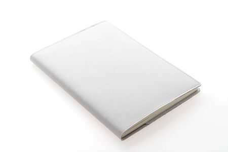 book design: Blank Mock up book isolated on white background