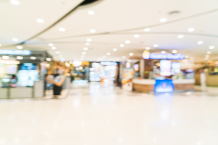 centro comercial: Abstract blur shopping mall interior background