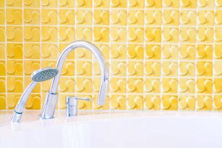 bath room: Beautiful decoration luxury hotel bathroom interior - Filter effect