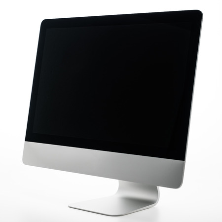 computer isolated: Blank desktop Computer isolated on white background
