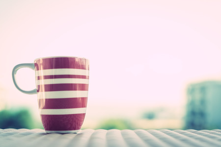 coffee mugs: Coffee cup - Vintage filter effect