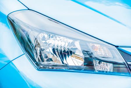 headlight: Selective focus point on Headlight lamp car