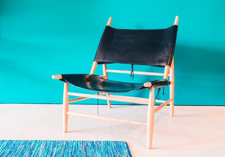 vintage furniture: Modern chair furniture decoration in livingroom interior - Vintage filter Stock Photo