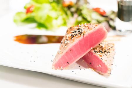 Grilled Tuna steak - soft focus point Stock Photo