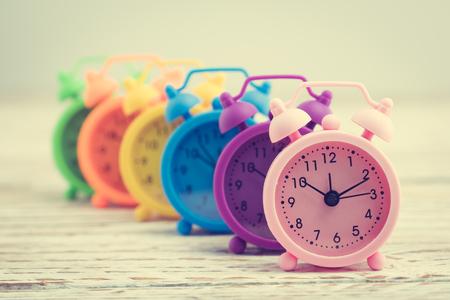 Classic Alarm Clock - Vintage filter processing style Stockfoto