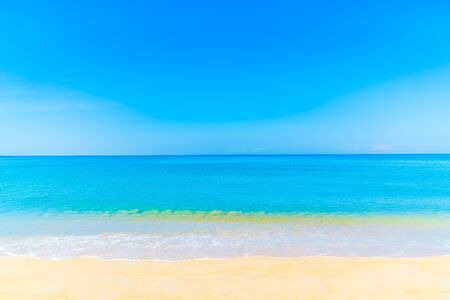 Beautiful tropical landscape beach sea and sand for vacation Stock Photo