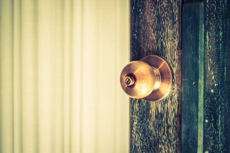 door handle: Old door handle knob - Vintage filter Stock Photo