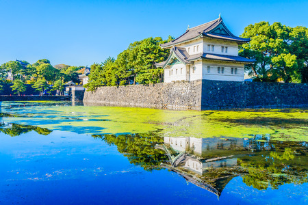 Beautiful Imperial palace building in tokyo japan