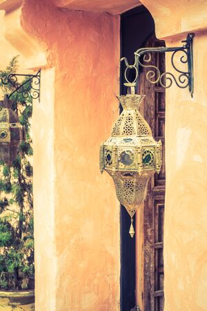 souq: Lantern light lamps morocco style decoration - Vintage Filter Stock Photo