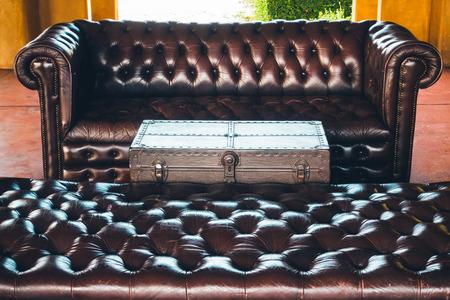 decoración de interiores Sofá en salón - filtro de la vendimia