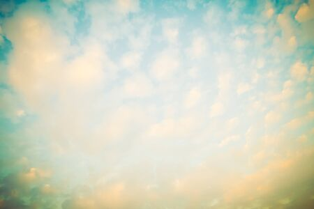 vintage background: Vintage cloud on sky background - Vintage filter Stock Photo