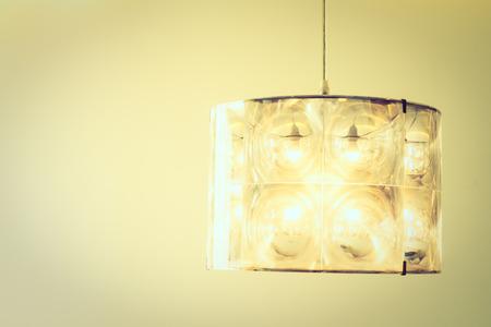 sconce: Light lamp decoration on wall in livingroom interior - Vintage Filter