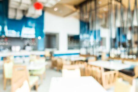 restaurant interior: Abstract blur beautiful luxury restaurant interior for background