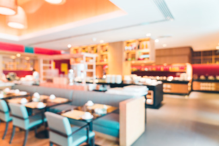 shop interior: Abstract blur restaurant interior background - Filter effect processing Stock Photo