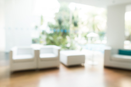Abstract blur livingroom decoration interior for background