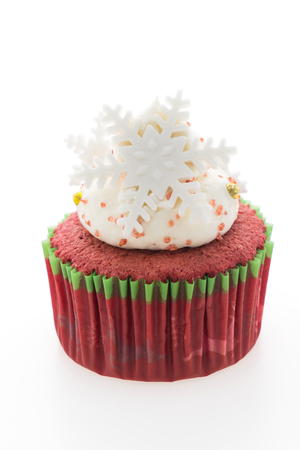 christmas cupcakes: Christmas cupcakes isolated on white background