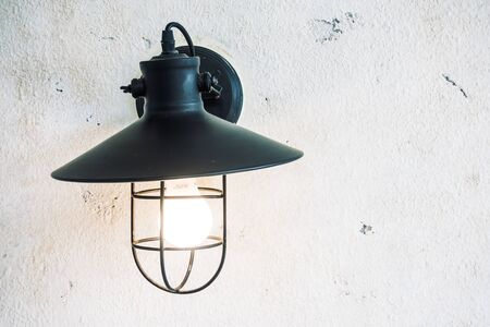 sconce: Light lamp on wall decoration livingroom interior - light Vintage Filter