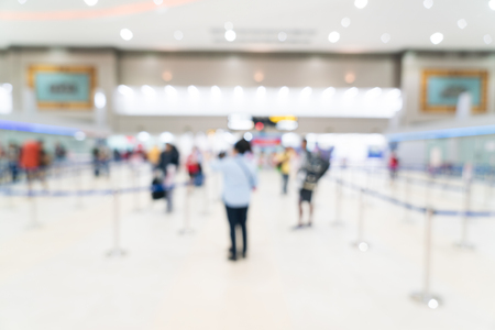 Abstract blur airport interior for background Stock Photo