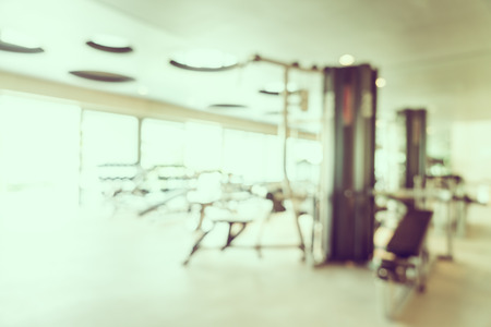 Abstract beautiful luxury blur gym and fitness room interior