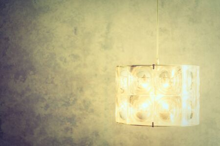 wall sconce: Light lamp decoration on wall in livingroom interior - Vintage Filter