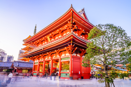 senso ji: Sensoji Temple in Tokyo at Japan on Twilight times - Boost up color processing style