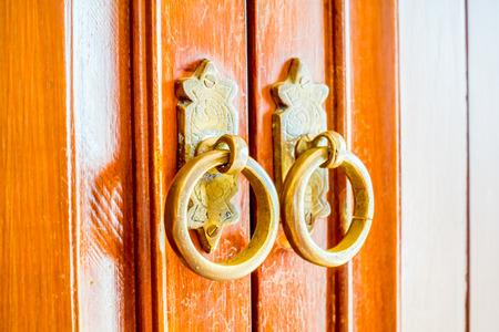 door knob: Old vintage door knob - Vintage film Filter Stock Photo