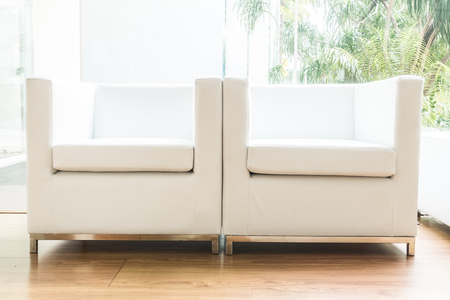 white sofa: White sofa decoration in livingroom interior