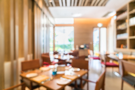 restaurant tables: Abstract blur restaurant cafe  interior for background