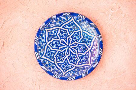 Plate morocco decoration on wall - Vintage light Filter Stock fotó