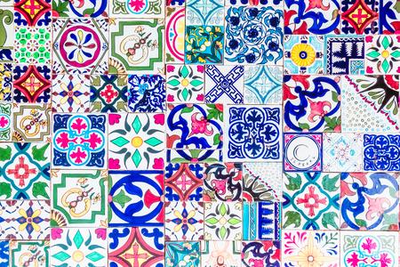 Marokko Mosaik-Fliesen-Texturen für den Hintergrund - Vintage-Filter