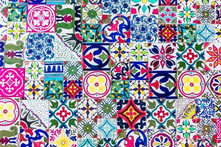 tile background: Morocco mosaic tiles textures for background - Vintage Filter