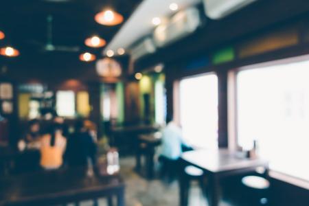 Abstract blur restaurant interior for background - Vintage Filter