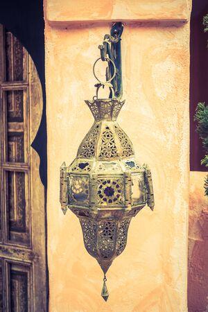 Lantern light lamps morocco style decoration - Vintage Filter Stock Photo