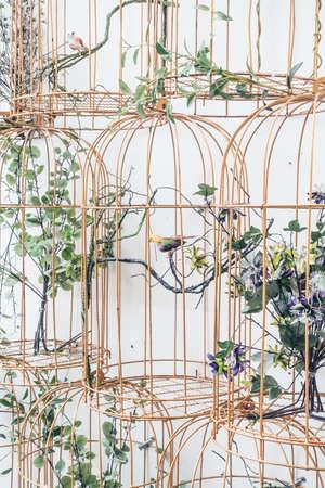 Bird nest decoration on wall - Vintage Light Filter