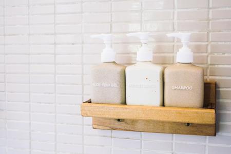 lotion bottle: Lotion bottle in bathroom - Vintage Light Filter