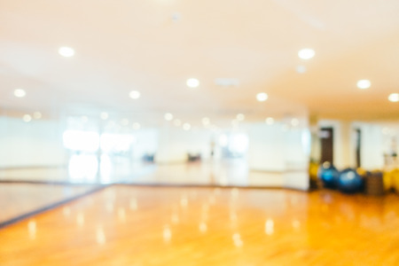 Abstract beautiful luxury blur gym and fitness room interior for background Imagens