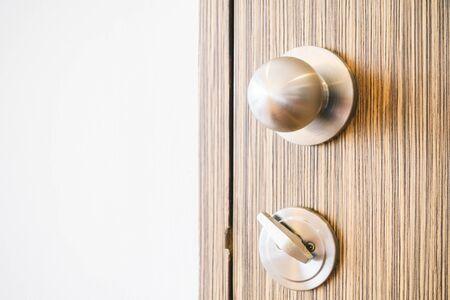 door knob: Door knob decoration interior - Vintage Light Filter Stock Photo