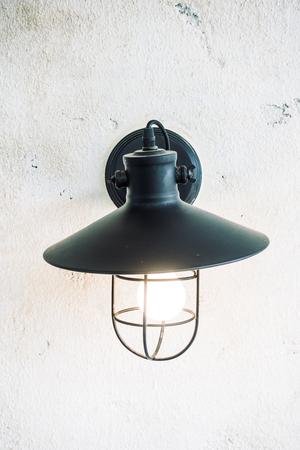 Licht-Lampe Auf Wanddekoration Wohnzimmer Interieur - Licht Jahrgang ...