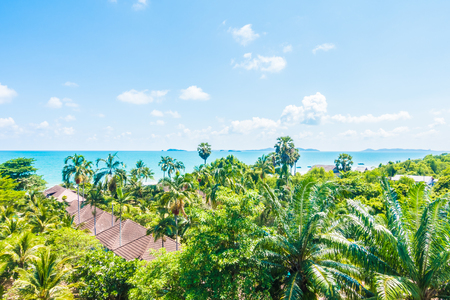 arial views: Arial view of sea and beach - Boost up color Processing - Holiday vacation concept for background