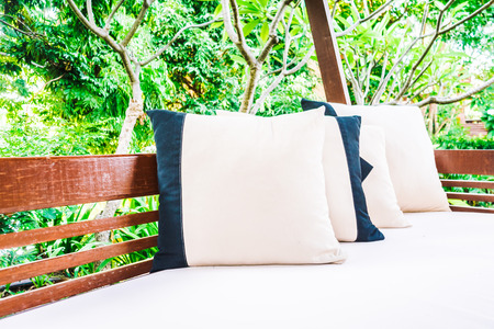 white pillow: Pillow on sofa patio decoration - Vintage light Filter