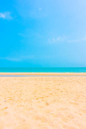 Beautiful empty sand for copy space on the beach and sea landscape - Boost up Color Processing