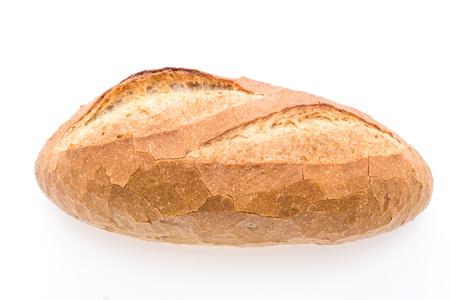 Pan del pan de masa madre aislada en el fondo blanco