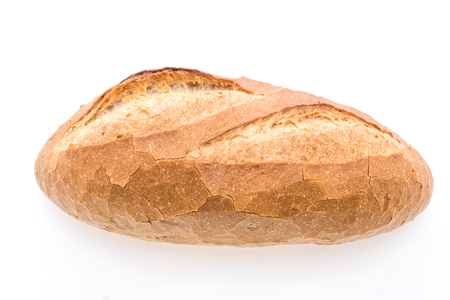 Sourdough loaf bread isolated on white background