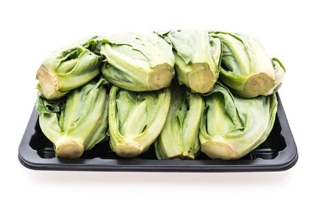 brussel: Green fresh Brussel sprout vegetable isolated on white background - Healthy food style concept