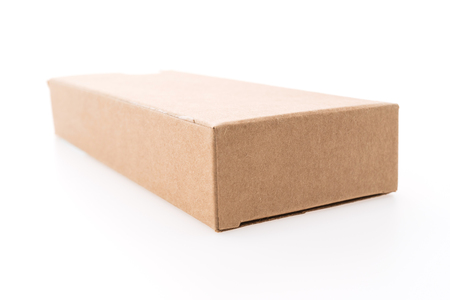 brown box: Empty brown box isolated on white background