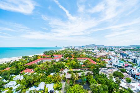 hin: Beautiful architecture in hua hin city at Thailand